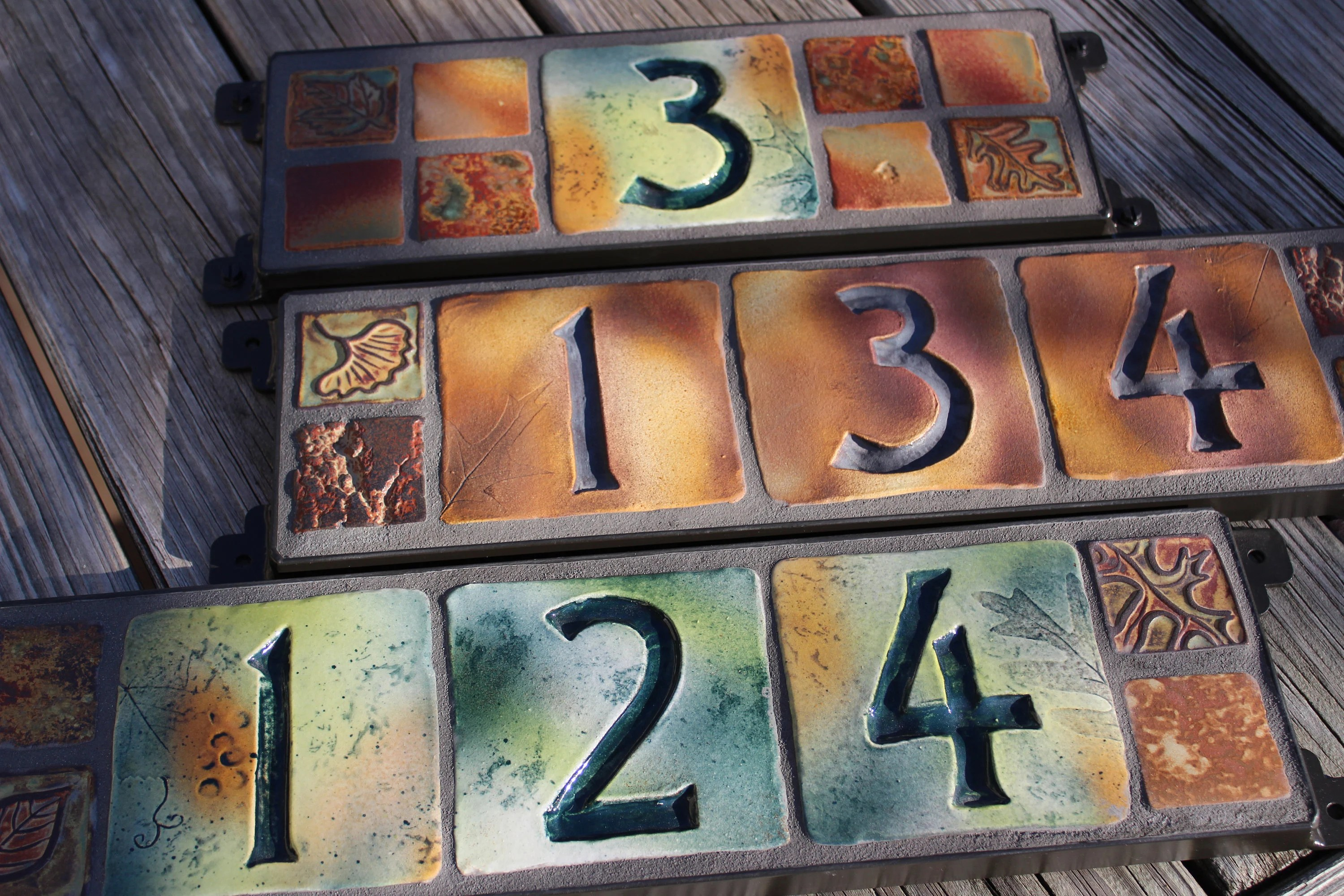 house numbers address signs ceramic tile etsy