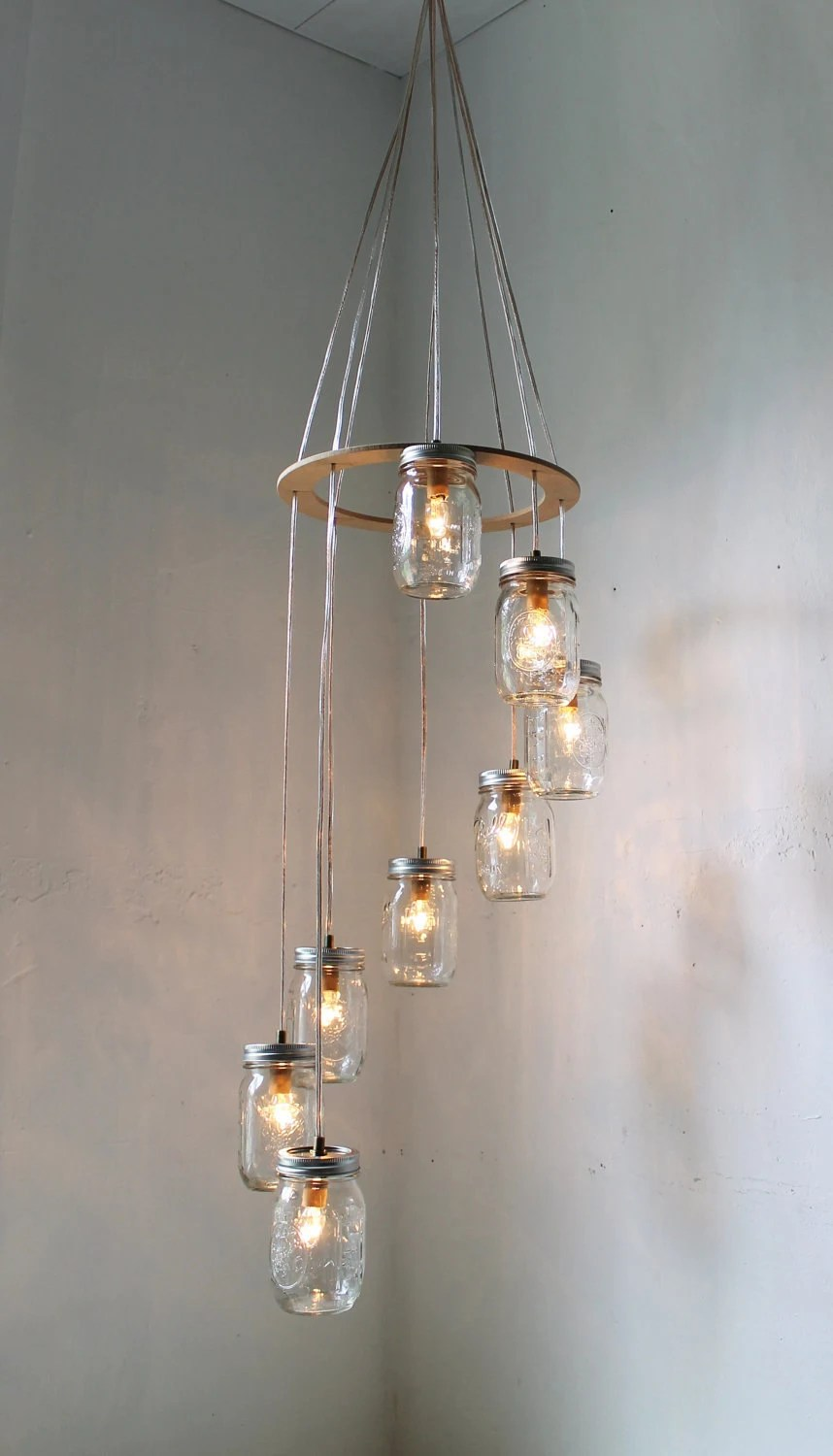 Mason Jar Pendant Track Lighting