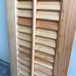 1 Wooden Louvered Shutter 24 X 9