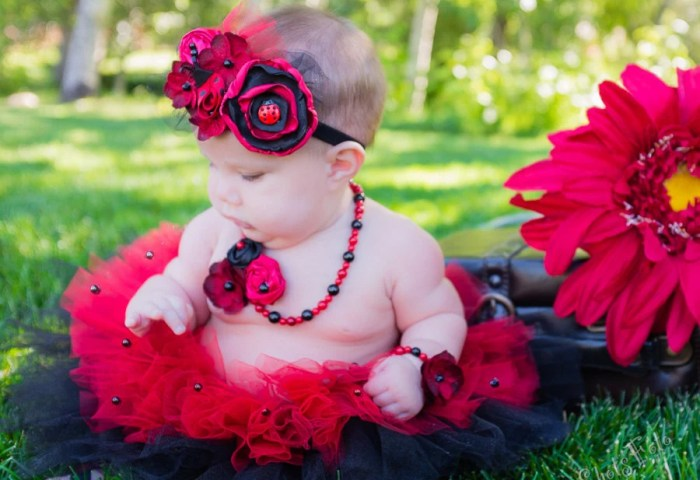 Ladybug Outfit Baby Girl First Birthday Cake Smash Tutu Etsy