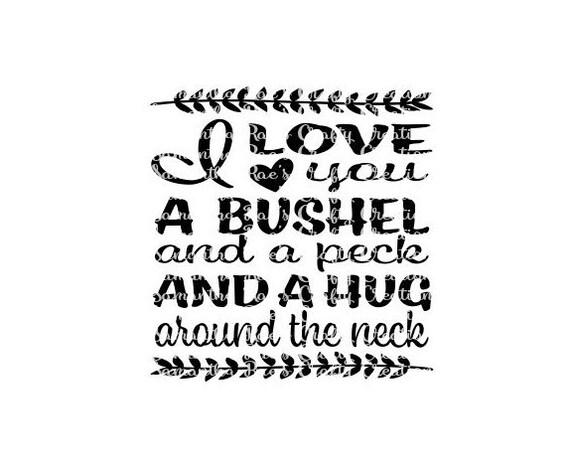 Download SVG PNG DFX I love you Bushel Peck Hug around the neck   Etsy