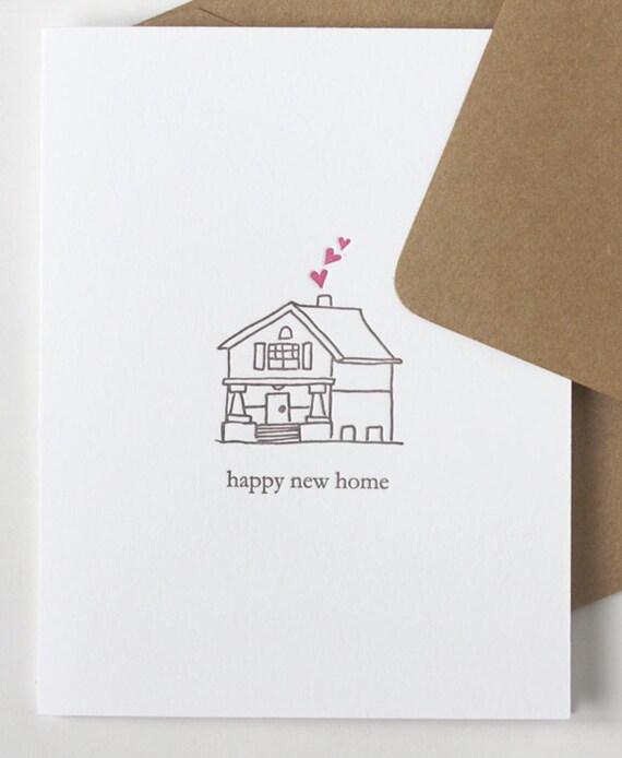 heureuse nouvelle maison carte de pendaison de cremaillere