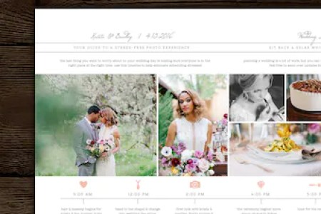 Wedding Timeline Template Bridal Wedding Day Schedule   Etsy Wedding Day Timeline Template for Photographers   Studio Welcome Packet    Photographer Magazine Templates   Wedding Schedule Template