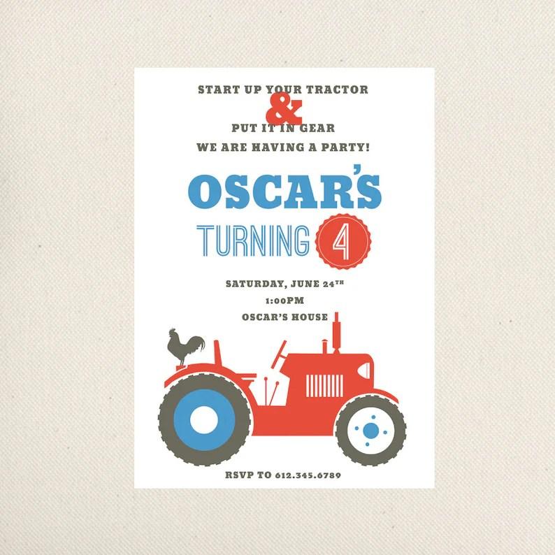 Einladung Zur Traktor Geburtstag Weihnachtsfeier