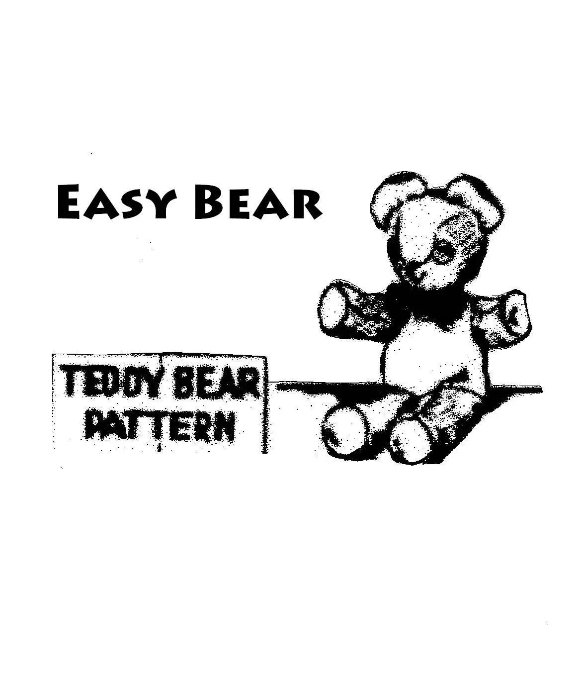 Old Fashioned Teddy Bear Sewing Pattern Easy