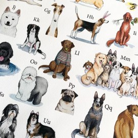 Dog Breeds Poster Dog Breed Alphabet Print Fine Art Giclee | Etsy