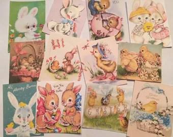 Vintage Easter Cards Etsy