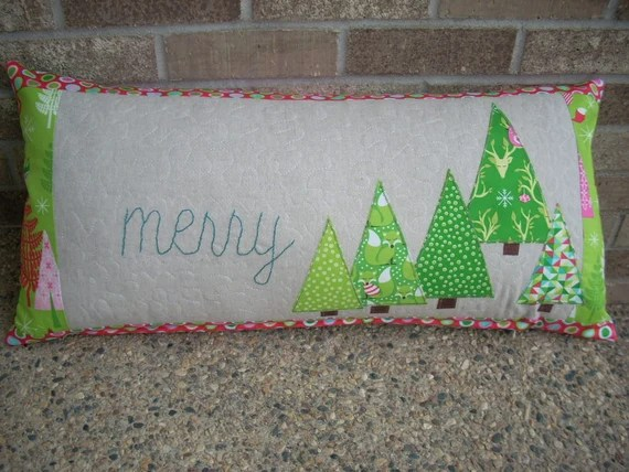 festive forest 14 x 28 pillow cover pattern sheet