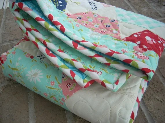 little ruby baby quilt - FREE SHIPPING