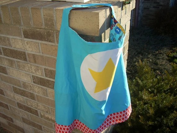 ann kelle super hero cape with patchwork inside - FREE SHIPPING