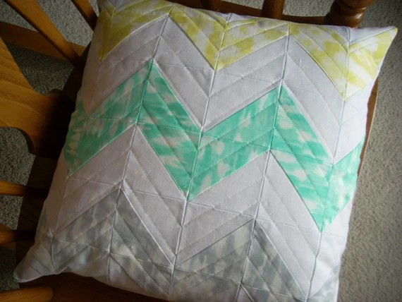 sunshine serenade chevron two sided pillow cover pattern sheet