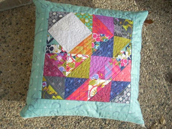 Alison Glass Severnty Six and Insignia two-sided pillow cover pattern
