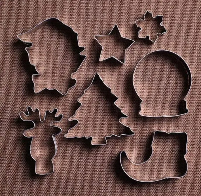 Elf Christmas Cookie Cutter Set Elf Cookie Cutter Christmas image 0