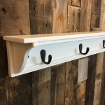 Handmade 30 Inch Long One Level Coat Rack Wall Shelf