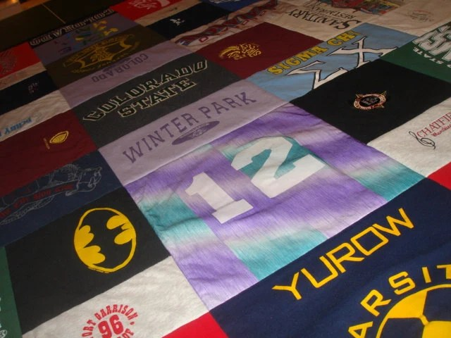 T Shirt Collage Quilt
