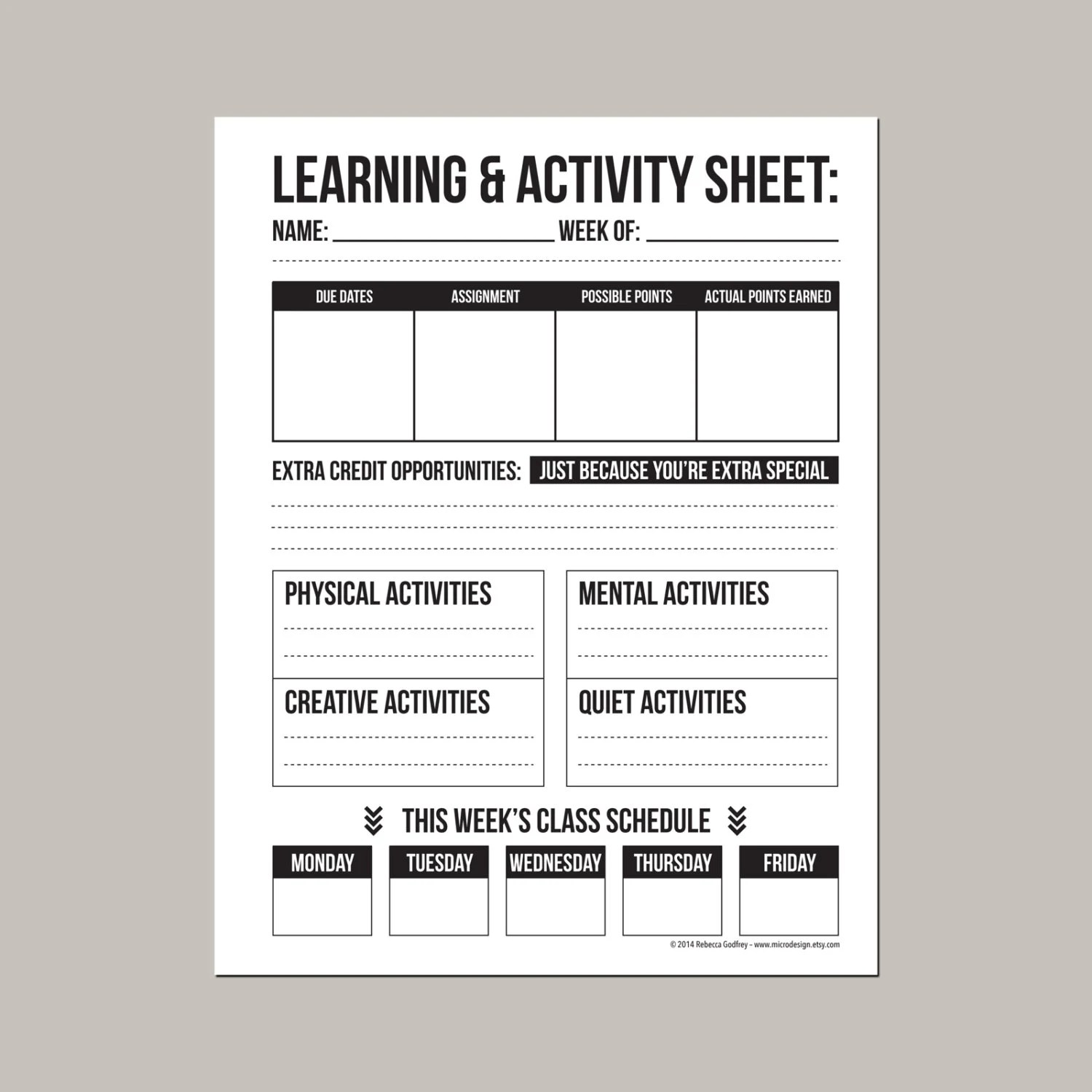 Learning Amp Activity Worksheet Printable Sheet