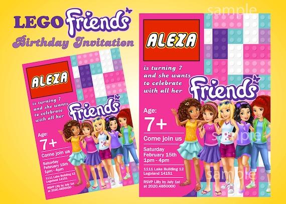 friends girls birthday party invitation