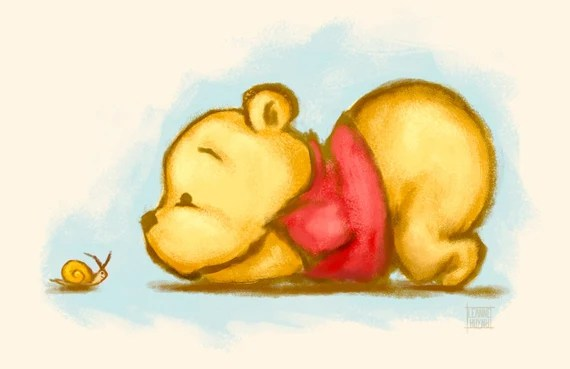 Winnie The Pooh Baby Pooh Bear Illustration Art Print Etsy