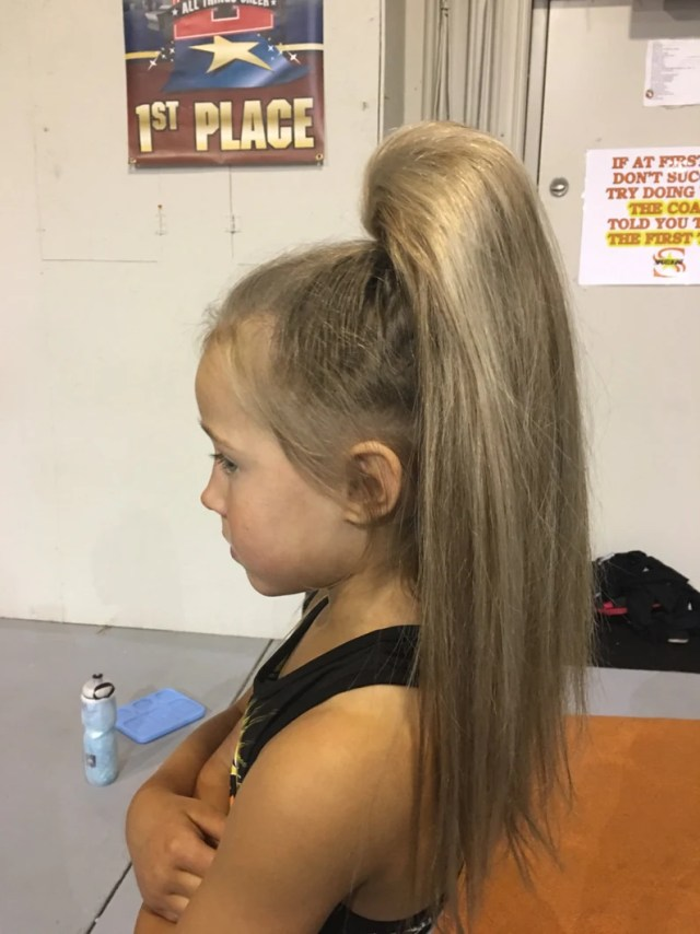 beehive cheer hair - ponytail for cheer competitions