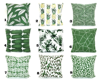 green throw pillow etsy