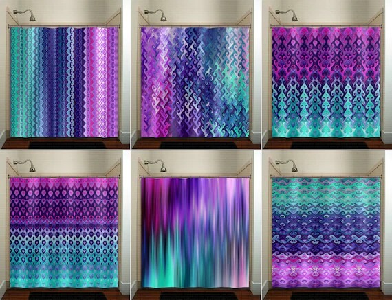teal purple shower curtain extra long fabric shower curtains stall custom wall tapestry window valance cafe panels bath mat towel