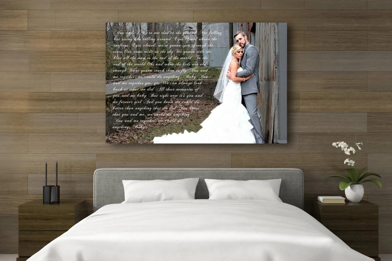 1st Anniversary Gift Wedding Vow Art Wedding Vows Framed