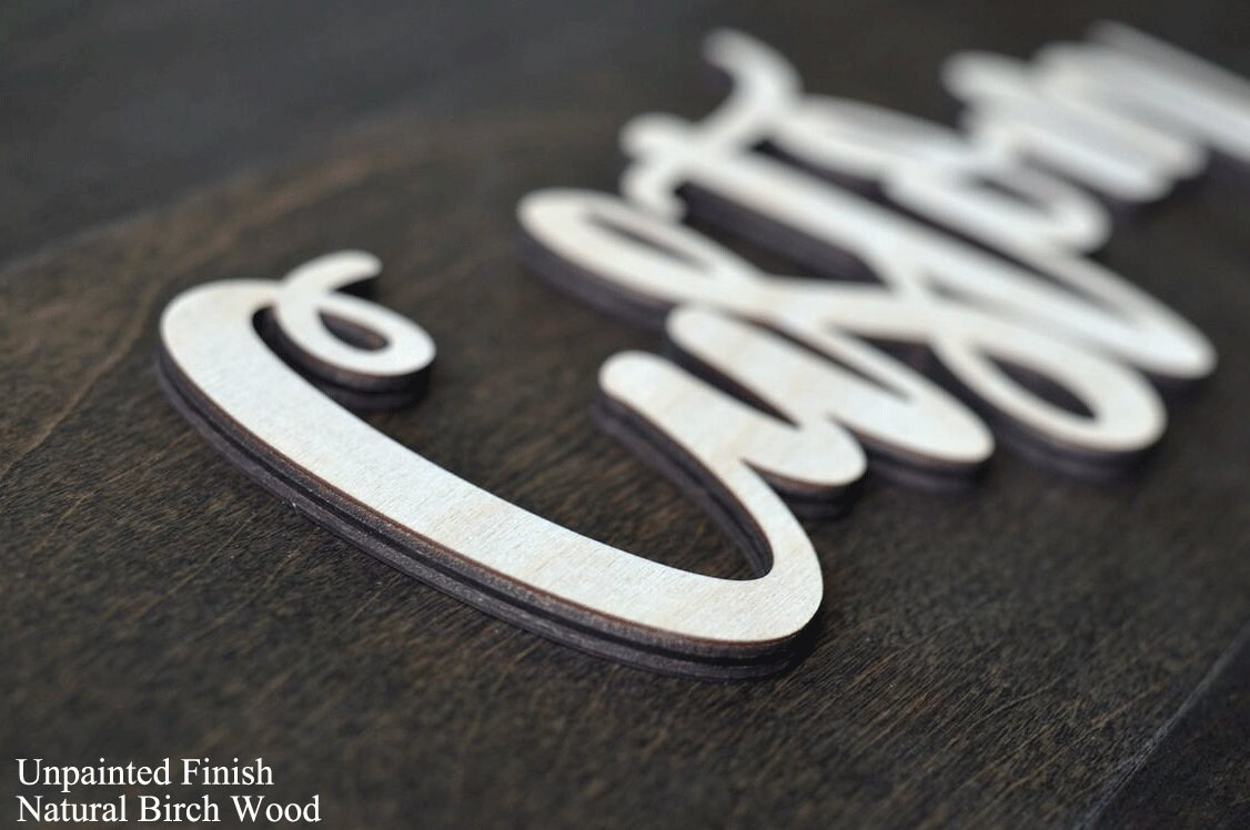 Wooden Name Signs Wooden letters Personalized Wood Design image 2