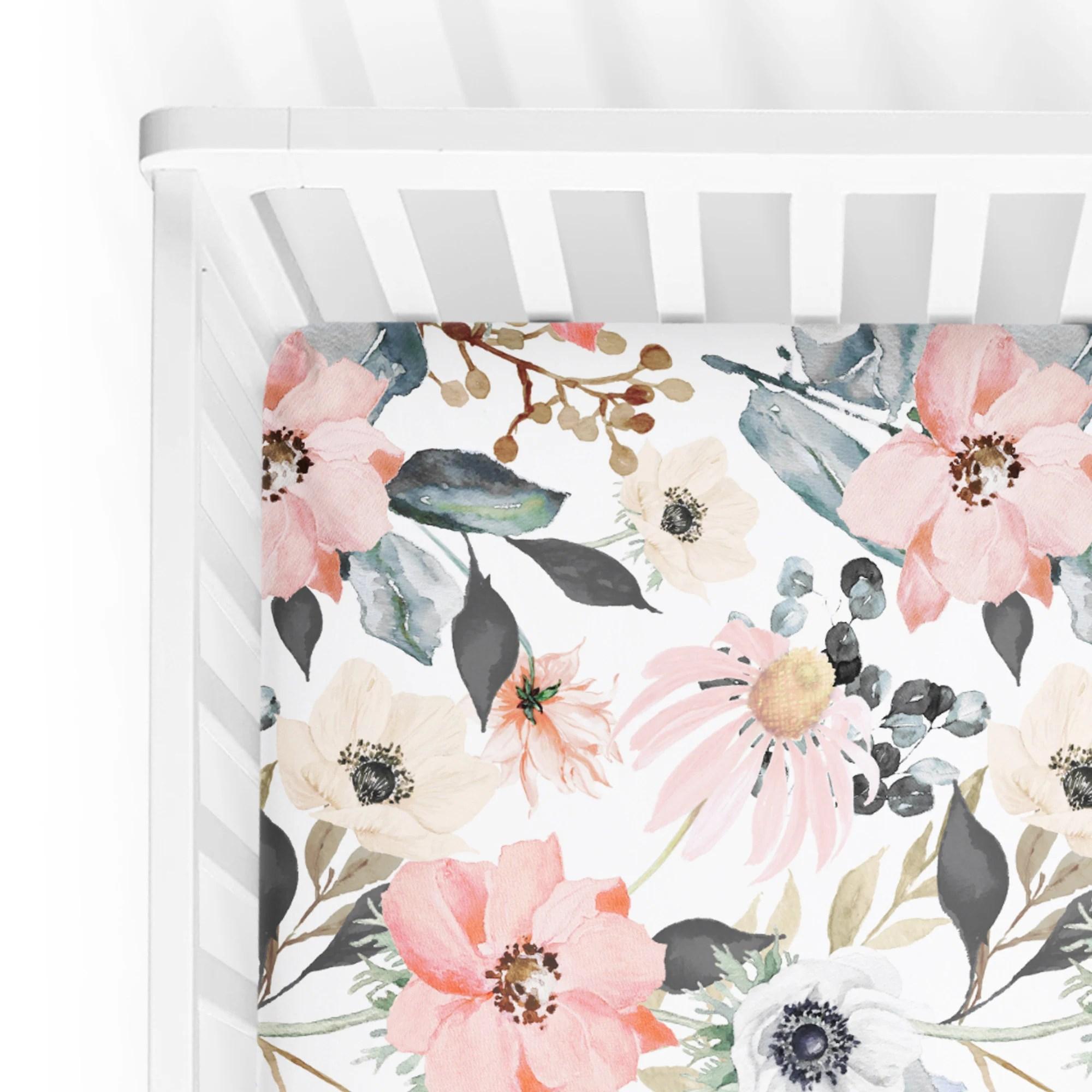 cream crib sheet etsy