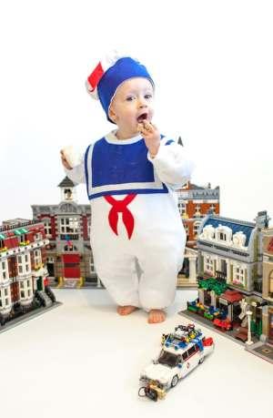 Toddler Marshmallow Man Halloween Costume
