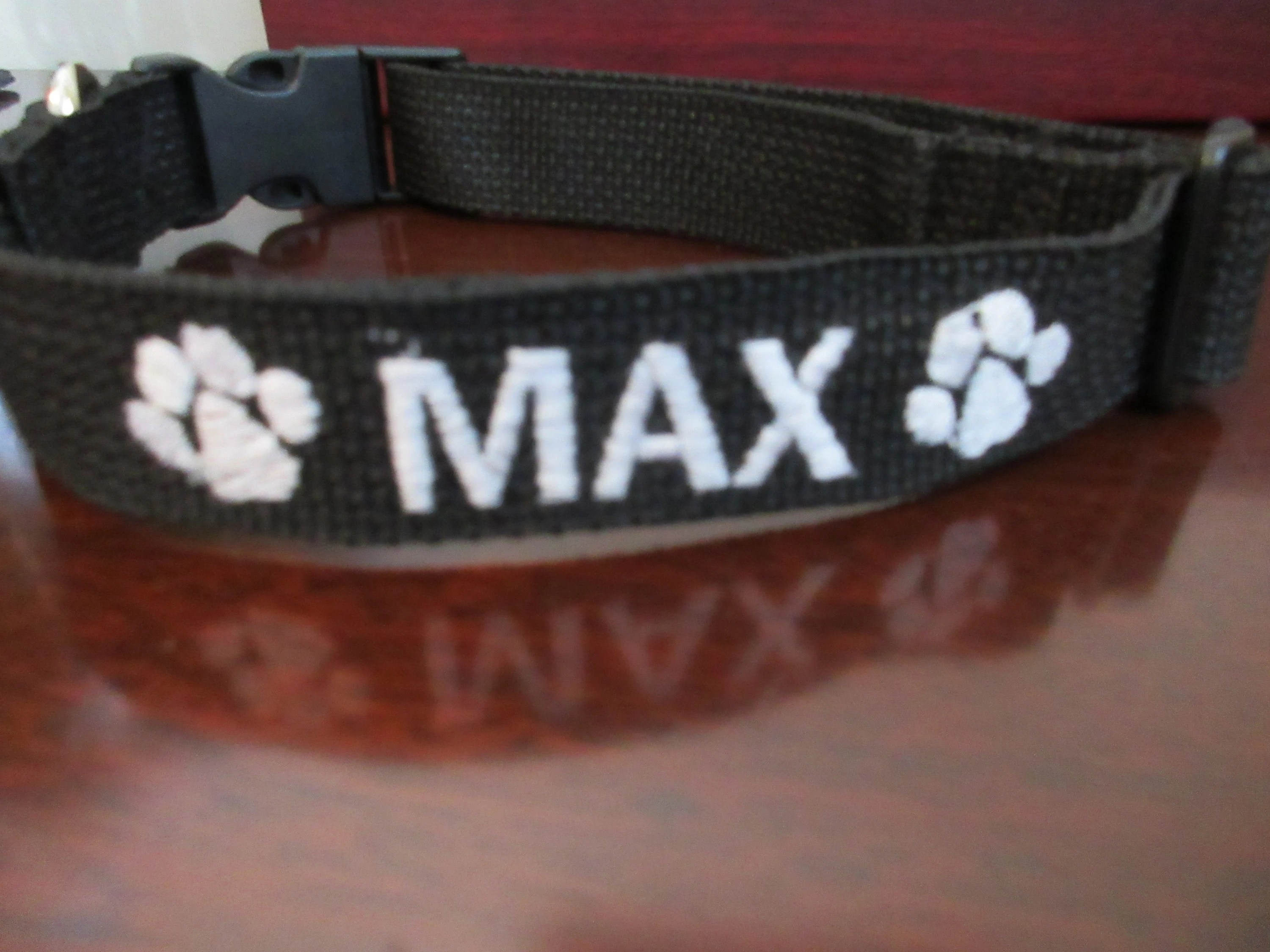 Personalized Dog Collar Dog Collar with Embroidered Name and image 4