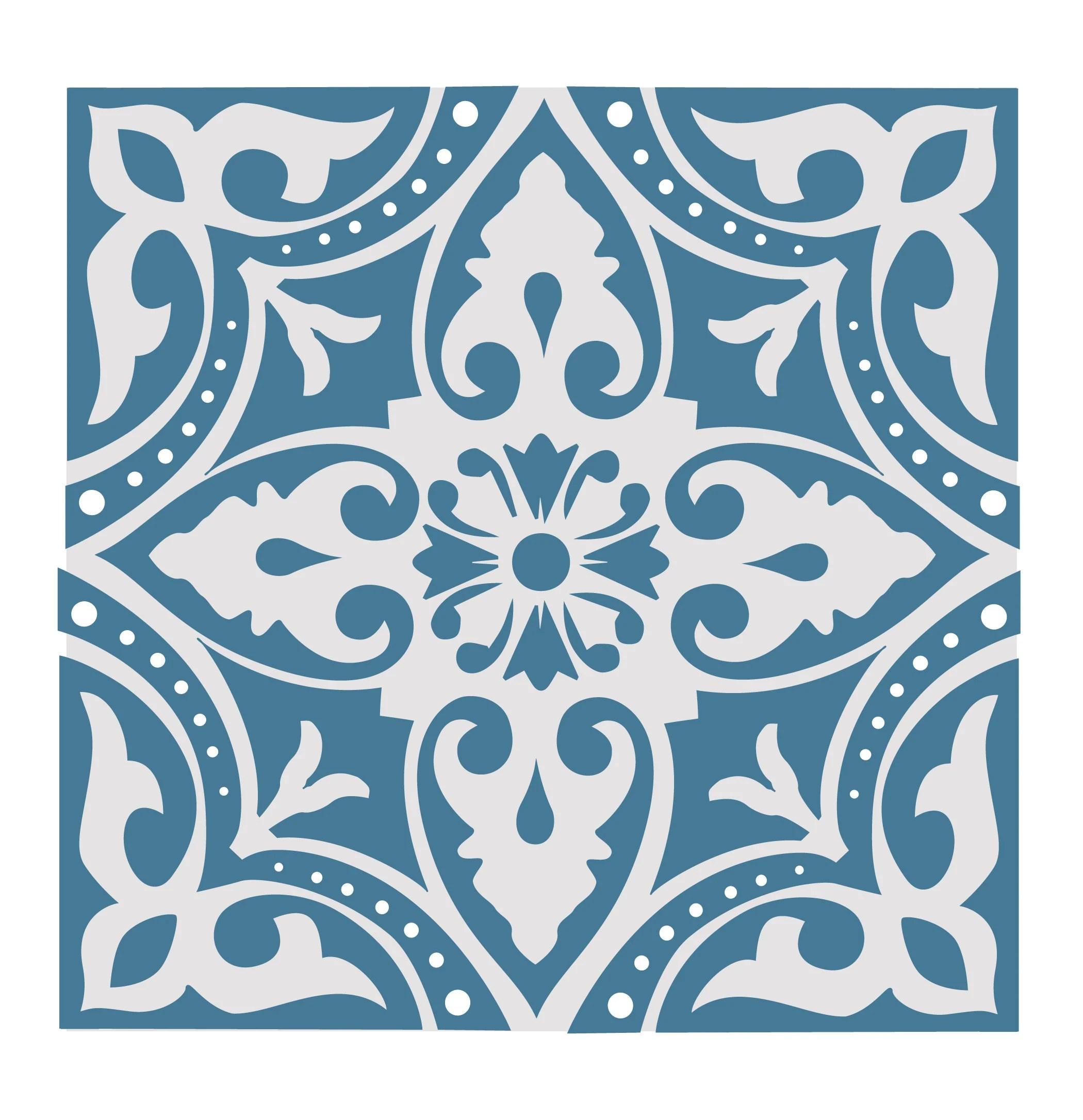 dantel modern handpainted tile 6x6 kitchen backsplash etsy