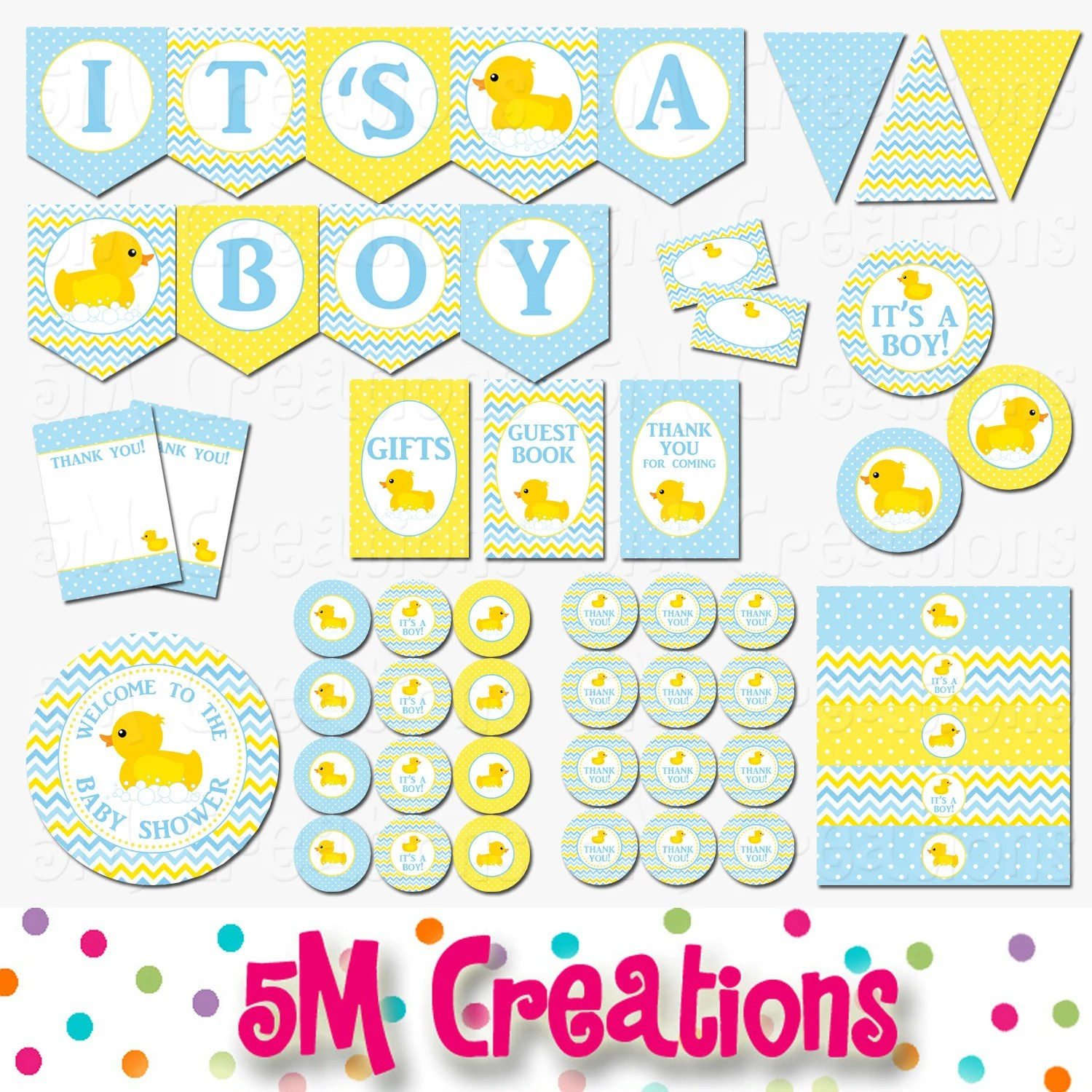 Rubber Ducky Baby Shower Decorations Rubber Duck Baby Shower