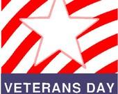 Veterans day digital embroidery design, Veterans day digitized embroidery design