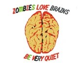 Zombies love brains digital embroidery design, Zombies love brains digitized embroidery design
