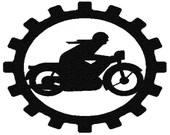 Motorcycle mechanic  digital embroidery design,Motorcycle mechanic  digitized embroidery design