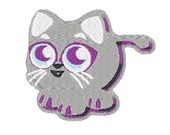 Baby cat digital embroidery design, Cat digitized embroidery design