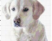 Cross stitch labrador retriever dog pdf pattern