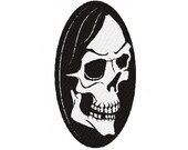 Skull digital embroidery design, Skull digitized embroidery design