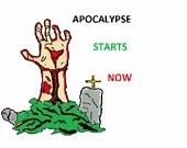 Apocalypse starts now digital embroidery design, Apocalypse starts now digitized embroidery design