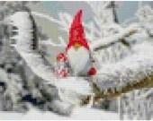 Cross stitch gnome with gifts pdf pattern