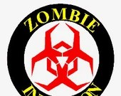Zombie infection digital embroidery round design, Zombie infection digitized embroidery design