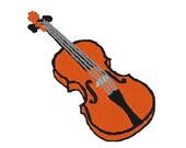 Violin embroidery design, Violin digitized embroidery design