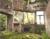 Apocalyptic building cross stitch pattern pdf