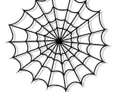 Spider web embroidery design, Web digitized embroidery design