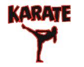 Karate student logo digital embroidery design, Karate student logo digitized embroidery design