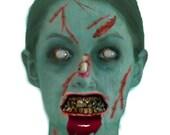 Zombie apocalypse photo fantasy portrait, Zombie apocalypse digitized photo transformation
