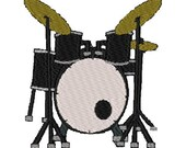 Drums embroidery design, drum set digitized instrument embroidery