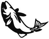 Fish silhouette digital embroidery design,Fish silhouette digitized embroidery design