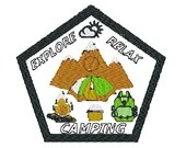 Camping in the outdoors digital embroidery design, Camping in the outdoors  digitized embroidery design