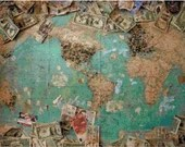 Map of the world with pins from travelers cross stitch pattern pdf